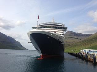 Captain Inger Olsen Takes Queen Victoria to Birthplace-queen-victoria-klaksvik-jpg