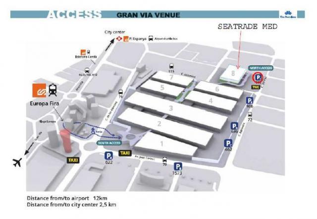 La Fiera Seatrade Med 2014 a Barcellona.-mappa-fira-jpg