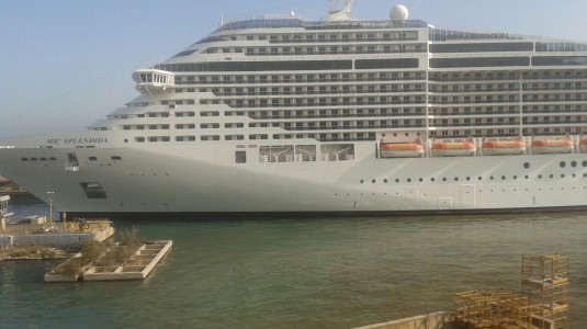 La Msc Splendida a Palermo, ai cantieri navali i lavori di riparazione-msc-crociera-535x300-jpg