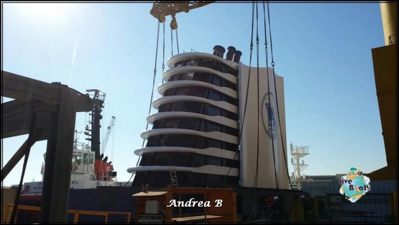 19/02/2015 Posizionato il fumaiolo di Koningsdam la nuova nave di Holland America-koningsdam-holland-america-3-jpg