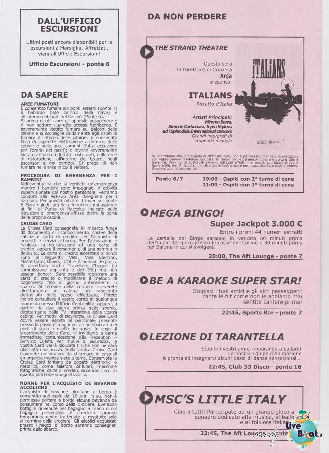 Msc SPLENDIDA - Med. Occidentale, 07/12/2013 - 14/12/2013-msc_splendida_daily_07-12-2013-02-jpg