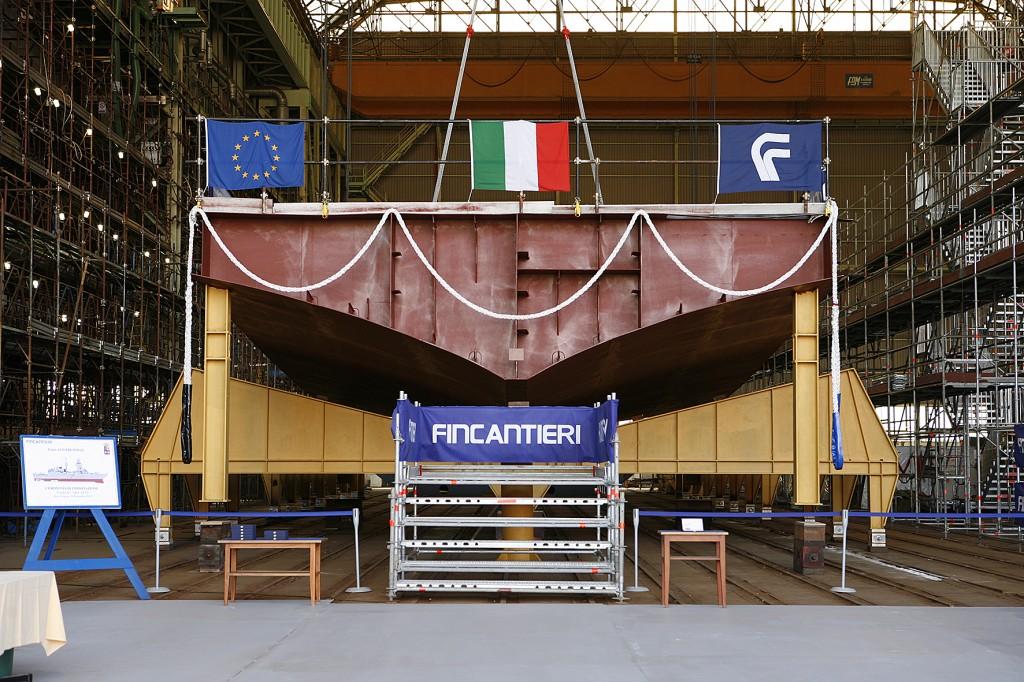 Primo blocco fregata italiana