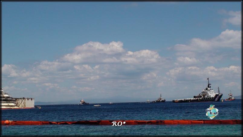 22Foto #CostaConcordia #IsoladelGiglio #Operazioni di rigalleggiamento
