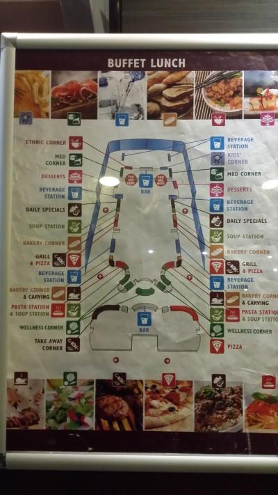Mappa buffet Splendida