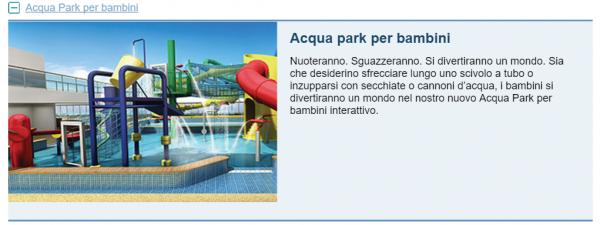 Acqua Park per bambini NCL Escape
