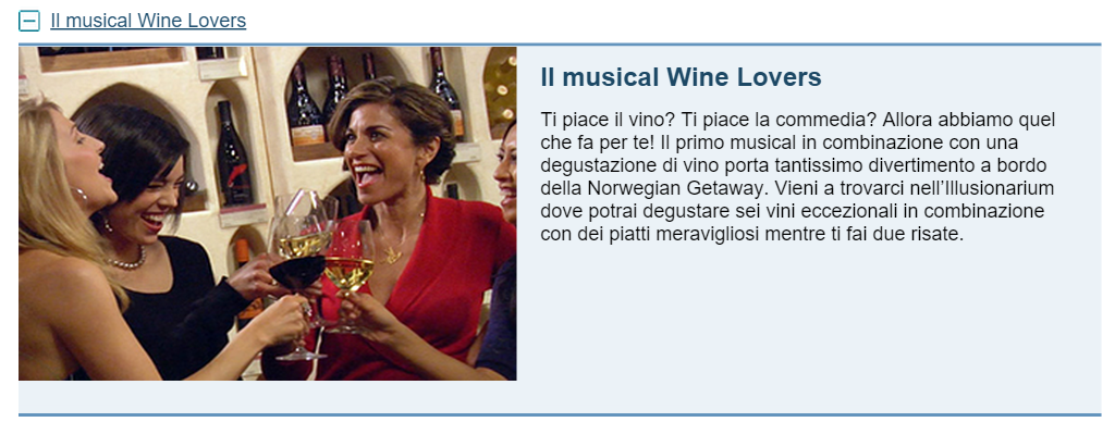 Il musical Wine Lovers