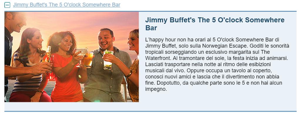 Jimmy Buffet's The 5 O'clock Somewhere Bar