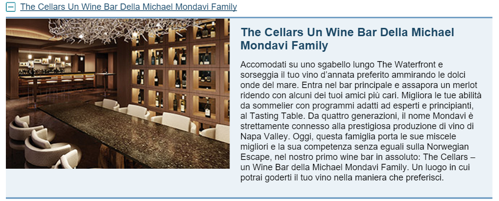 The Cellars Un Wine Bar Della Michael Mondavi Family