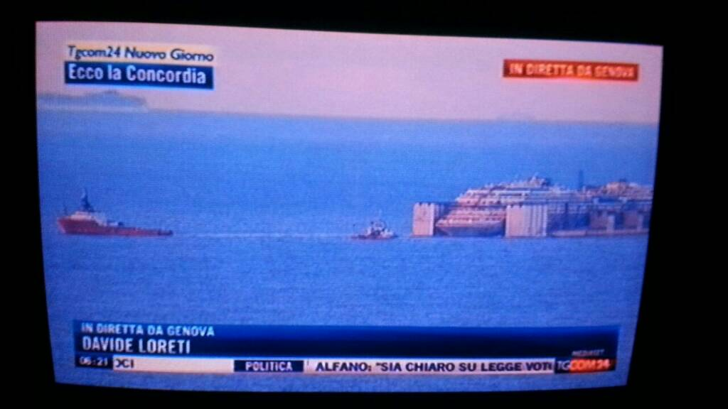 Liveboat in Diretta dall'Isola del Giglio e arrivo a Genova-uploadfromtaptalk1406436833294-jpg
