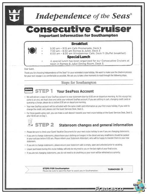 2014/05/17 Southampton -Independence OTS-8 GG. Norvegia  Fio-consecutive-cruiser-jpg