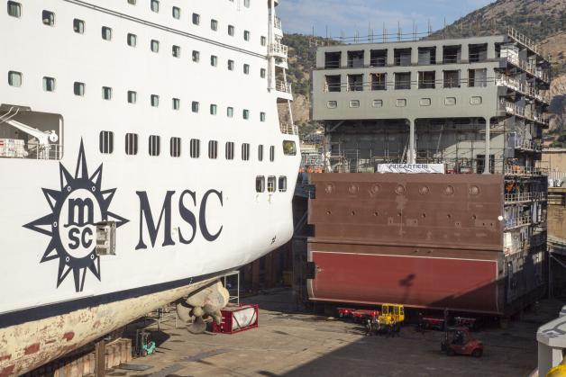 Show a Palermo: Fincantieri allunga una nave da crociera MSC-msc-armonia-blocco-aggiuntivo-inserire-jpg
