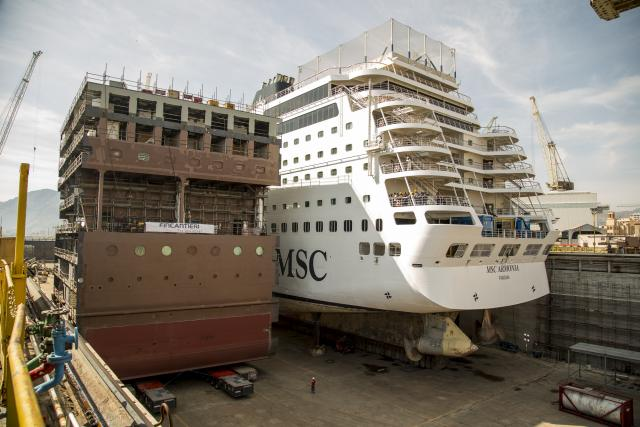 Show a Palermo: Fincantieri allunga una nave da crociera MSC-msc-armonia-blocco-aggiuntivo-inserire4-jpg