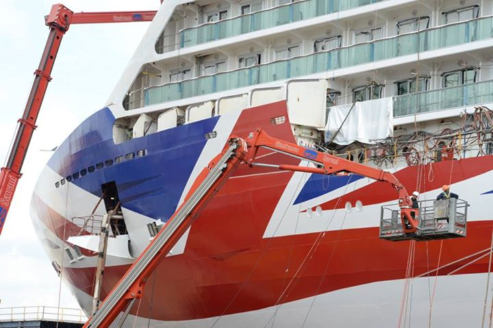 P&O ha presentato la livrea della futura ammiraglia Britannia-10701964_10152694140950782_2579254637781031922_n-jpg