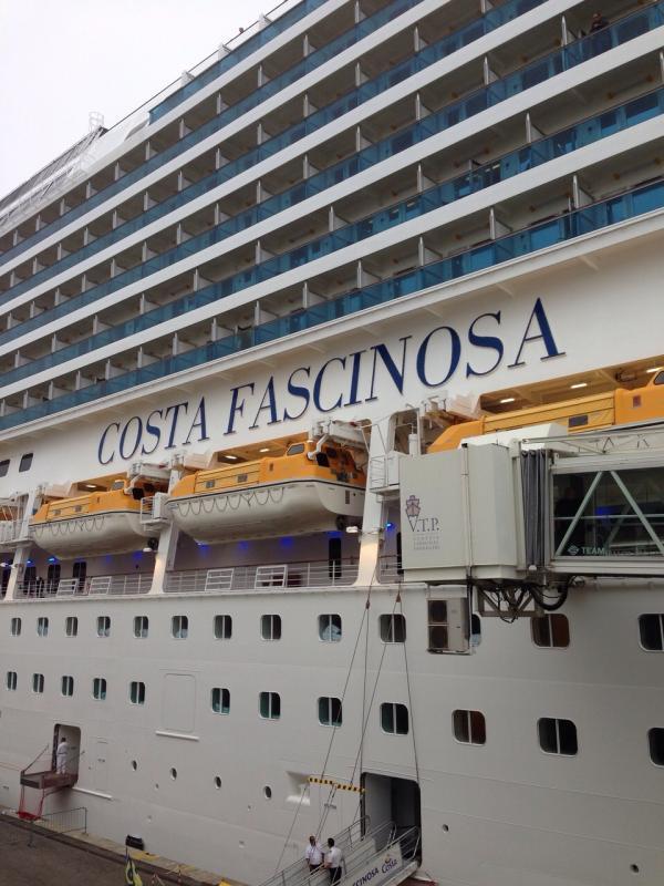 2014/10/13 Sbarco Venezia Costa Fascinosa-uploadfromtaptalk1413194864256-jpg