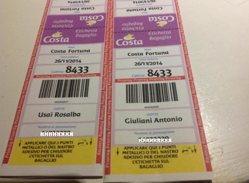 2014/11/26 Costa Fortuna Transatlantica Caraibi-rosalba-guiliani-etichette-bagaglio-croicera-w-jpg