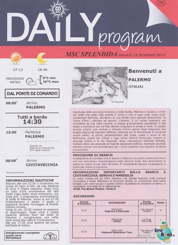 Msc SPLENDIDA - Med. Occidentale, 07/12/2013 - 14/12/2013-msc_splendida_daily_12-12-2013-01-jpg