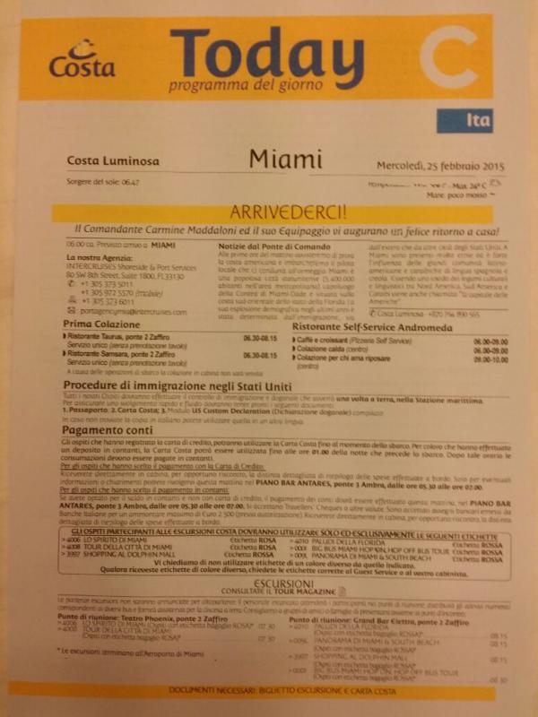 2015/02/25 Costa Luminosa Miami- Sbarco-uploadfromtaptalk1424848967074-jpg