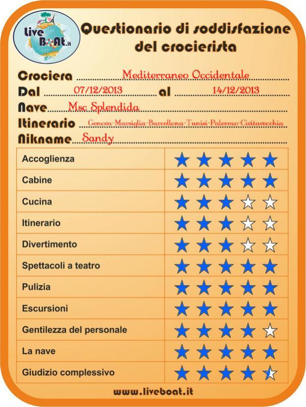 Msc SPLENDIDA - Med. Occidentale, 07/12/2013 - 14/12/2013-questionario_splendida-jpg