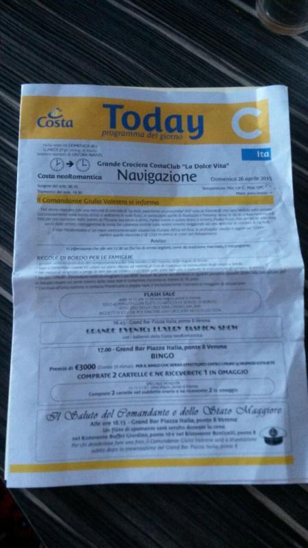 2015/04/26 Navigazione-  costa neoromantica crociera costa club-uploadfromtaptalk1430126908478-jpg
