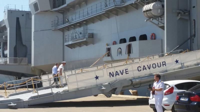 Visita alla portaerei Cavour a Cagliari-uploadfromtaptalk1433153622710-jpg