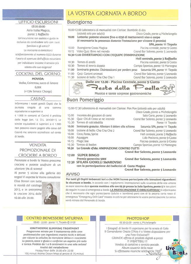 COSTA MAGICA - Cavalieri ed Eroi, 03/03/2013 - 14/03/2013-today_costa_magica_04-03-2013_liveboat-02-jpg