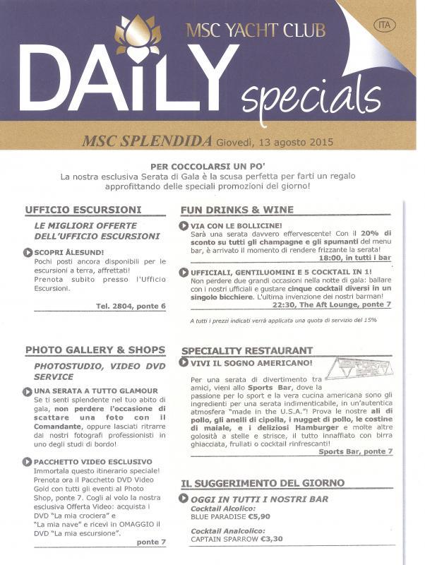 MSC SPLENDIDA - Fiordi Norvegesi - 13/08/2015 23/08/2015-daily5-001-jpg