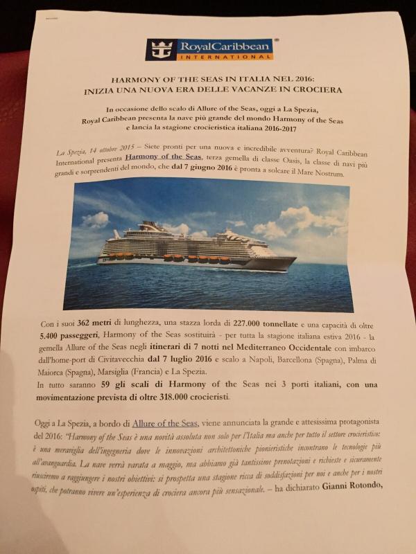 Harmony of the seas presentata oggi a bordo si Allure of the seas a La Spezia 14/10/-conferenza-stampa-harmony-of-the-seas-bordo-allure-29-jpg