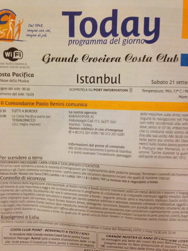 2013/09/21 - Istambul - Costa Pacifica-uploadfromtaptalk1379744577177-jpg