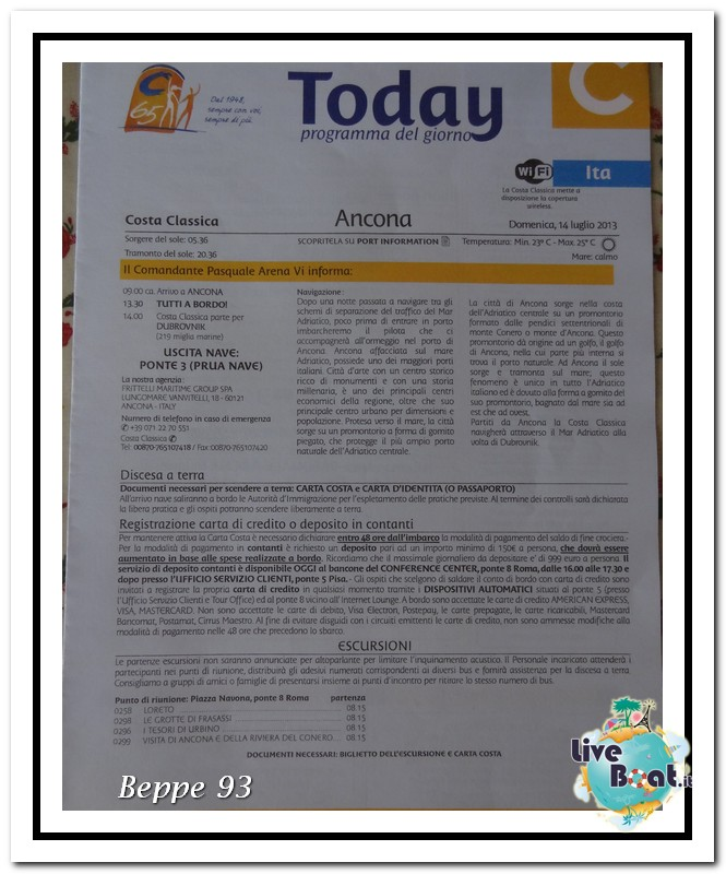 Costa Classica-Terre Sacre e Isole nel Blu-13/20 Luglio2013-today-ancona-1-jpg