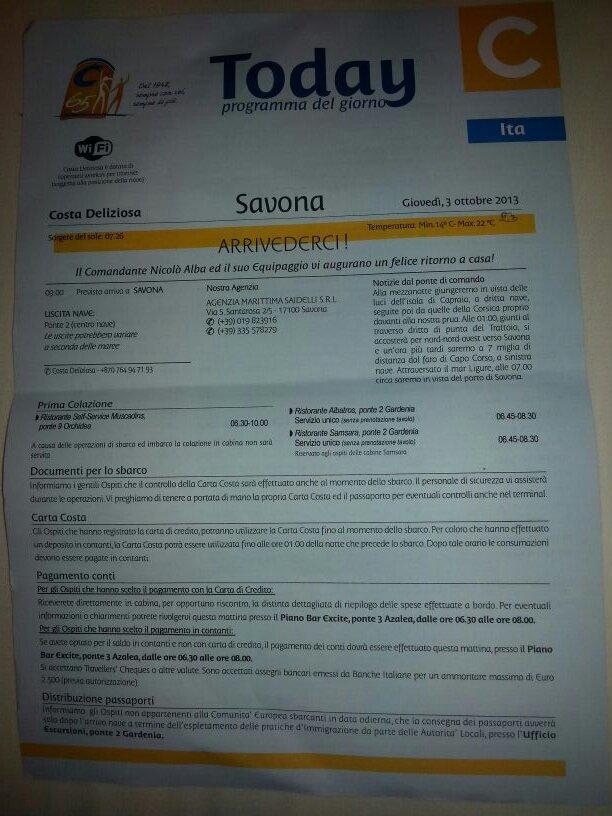 2013/10/03 Savona sbarco  Costa Deliziosa-uploadfromtaptalk1380804975102-jpg