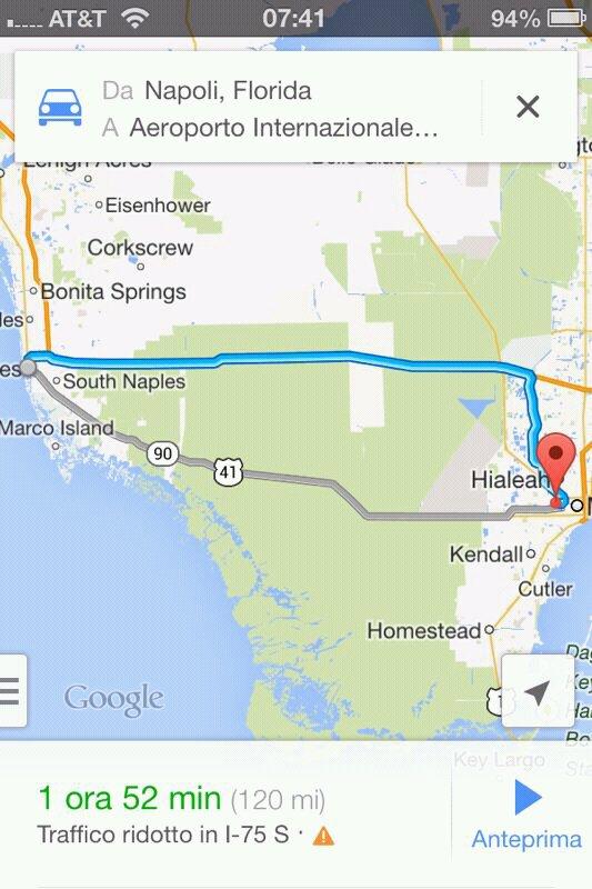 2013/12/28 partenza da Naples -> Miami per imbarco crociera-uploadfromtaptalk1388235558436-jpg