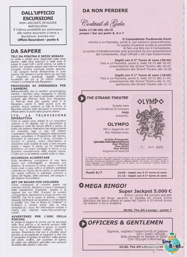 Msc SPLENDIDA - Med. Occidentale, 07/12/2013 - 14/12/2013-msc_splendida_daily_08-12-2013-02-jpg