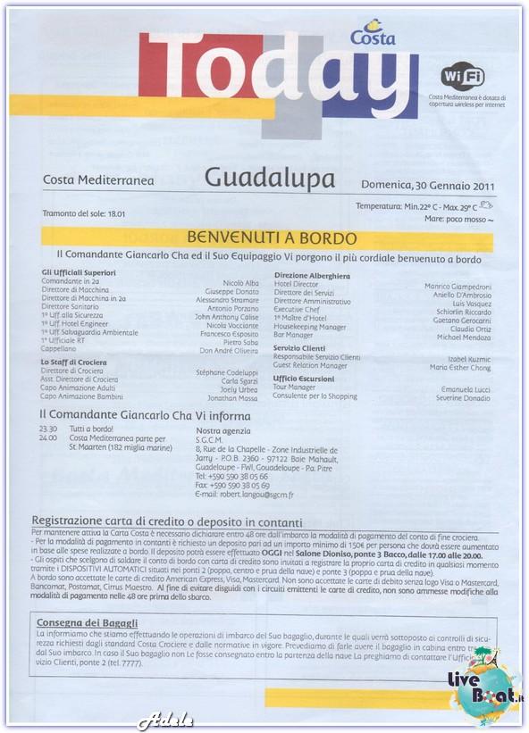 """Le Perle del caribe"" Costa Mediterranea 30/01/11-06/02/11-today-imbarcogualalupa-leperledelcaribe-forumcrociereliveboat-jpg"