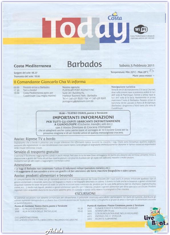 """""""Le Perle del caribe"""" Costa Mediterranea 30/01/11-06/02/11-today-barbados-leperledelcaribe-forumcrociereliveboat-jpg"""