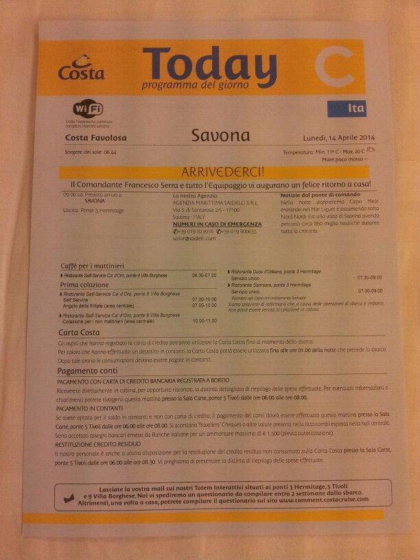 2014/04/14 Savona - Costa Favolosa (Sbarco)-uploadfromtaptalk1397464277111-jpg