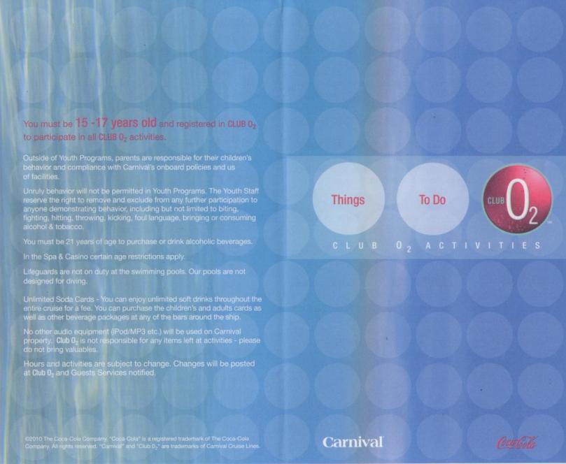 Materiale cartaceo di bordo di Carnival Magic-carnival-club-png