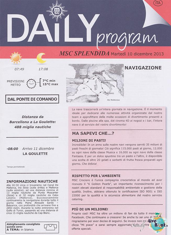 Msc SPLENDIDA - Med. Occidentale, 07/12/2013 - 14/12/2013-msc_splendida_daily_10-12-2013-01-jpg