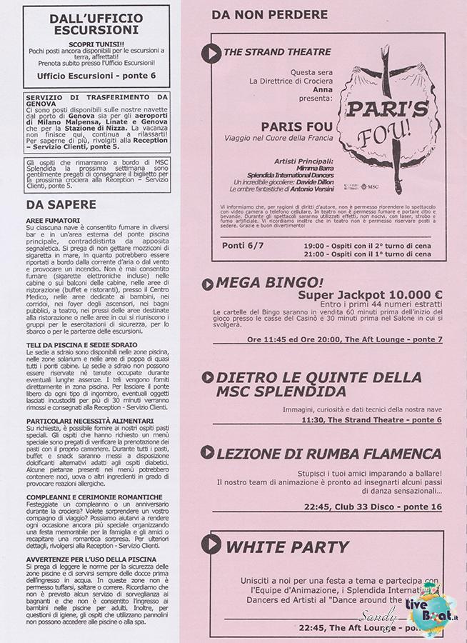 Msc SPLENDIDA - Med. Occidentale, 07/12/2013 - 14/12/2013-msc_splendida_daily_10-12-2013-02-jpg