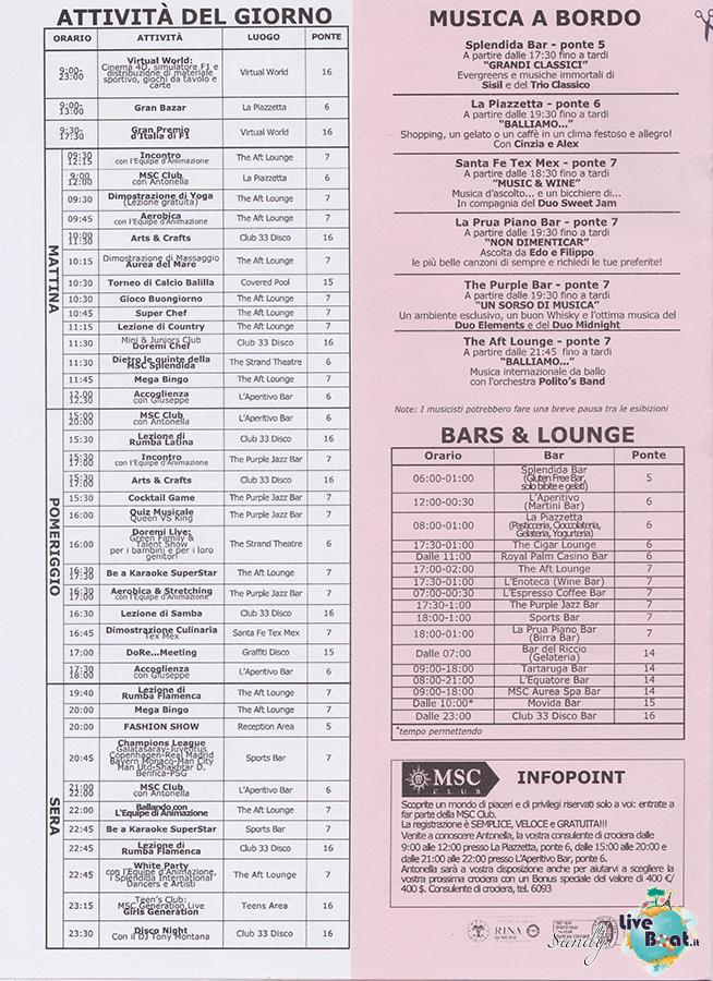 Msc SPLENDIDA - Med. Occidentale, 07/12/2013 - 14/12/2013-msc_splendida_daily_10-12-2013-04-jpg