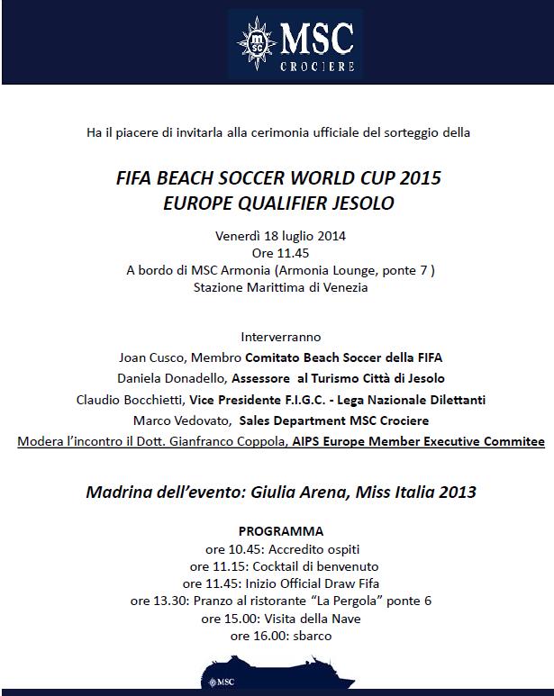 18/7/14 MSC Armonia -  Evento Fifa Beach soccer world cup-armonia_venezia-png
