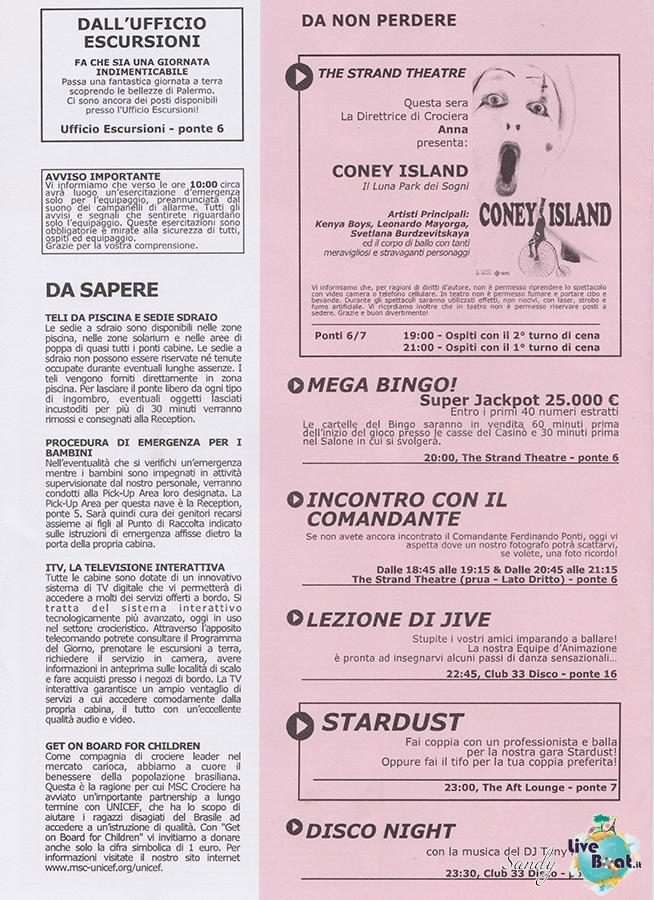 Msc SPLENDIDA - Med. Occidentale, 07/12/2013 - 14/12/2013-msc_splendida_daily_11-12-2013-02-jpg