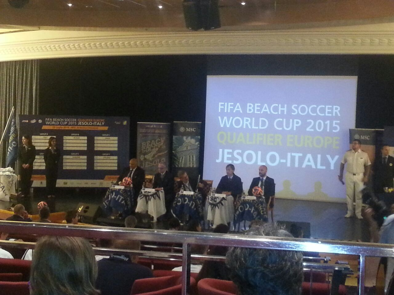 18/7/14 MSC Armonia -  Evento Fifa Beach soccer world cup-diretta-liveboat-msc-armonia-fifa-event-3-jpg