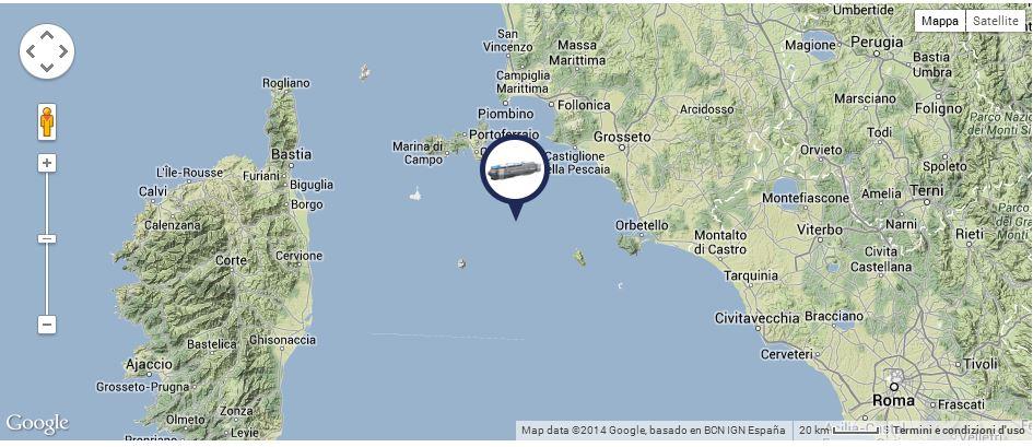 Liveboat in Diretta dall'Isola del Giglio e arrivo a Genova-posizione-costa-concordia-ore-20-jpg