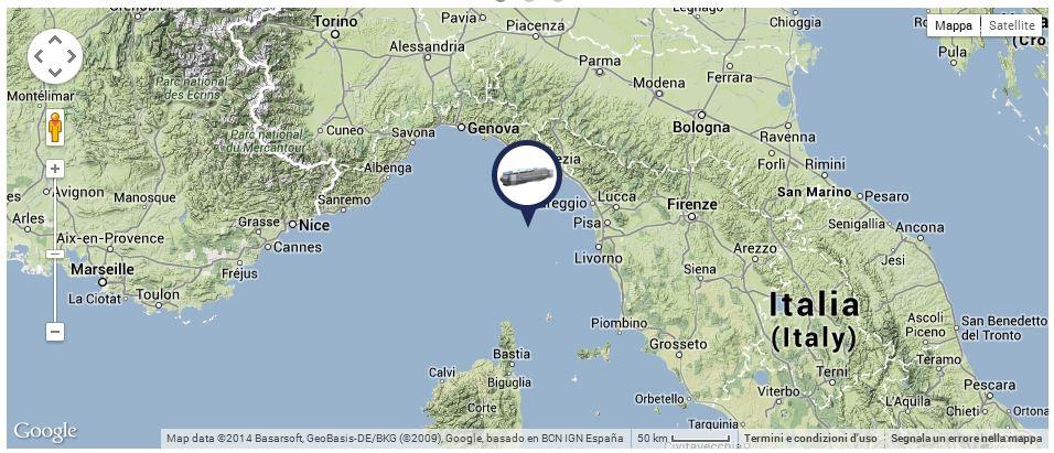 Liveboat in Diretta dall'Isola del Giglio e arrivo a Genova-posizione-concordia-giorno-jpg