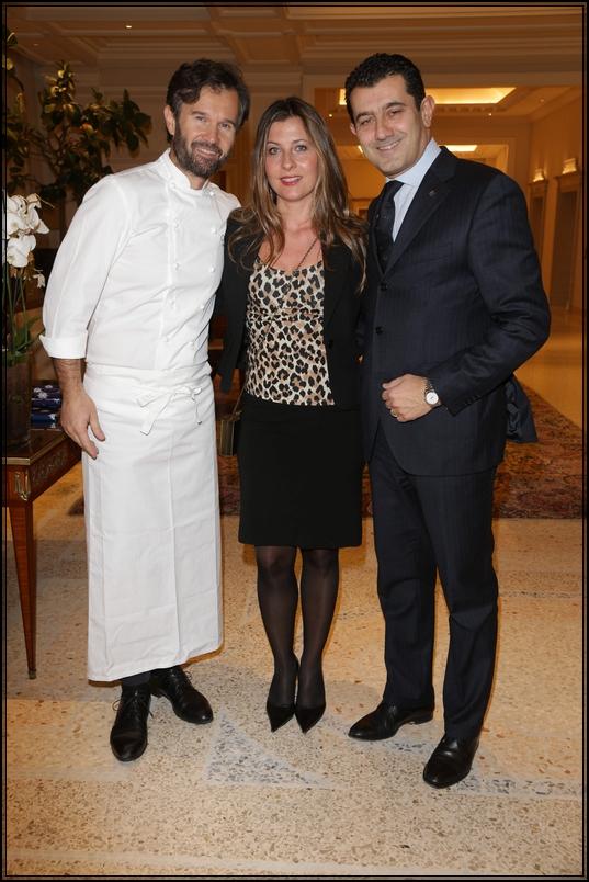1-Carlo Cracco, Daniela (moglie di Onorato), Gianni Onorato (CEO MSC Crociere)