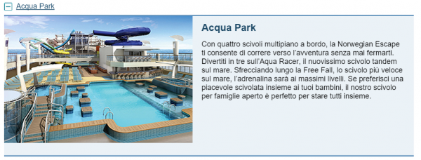 Acqua Park NCL Escape