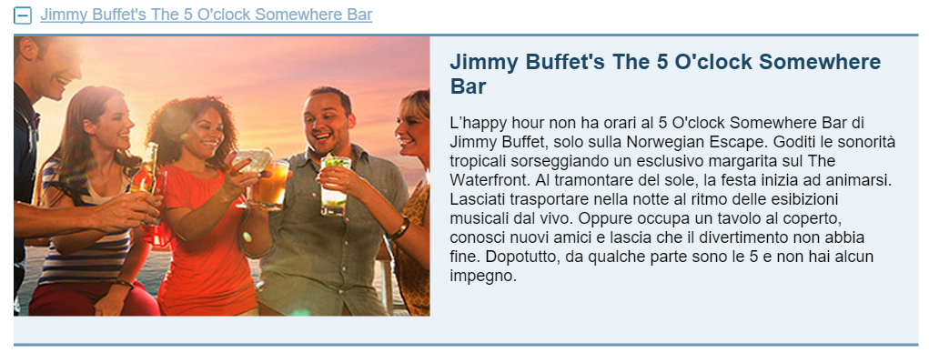 Jimmy Buffet's The 5 O'clock Somewhere Bar