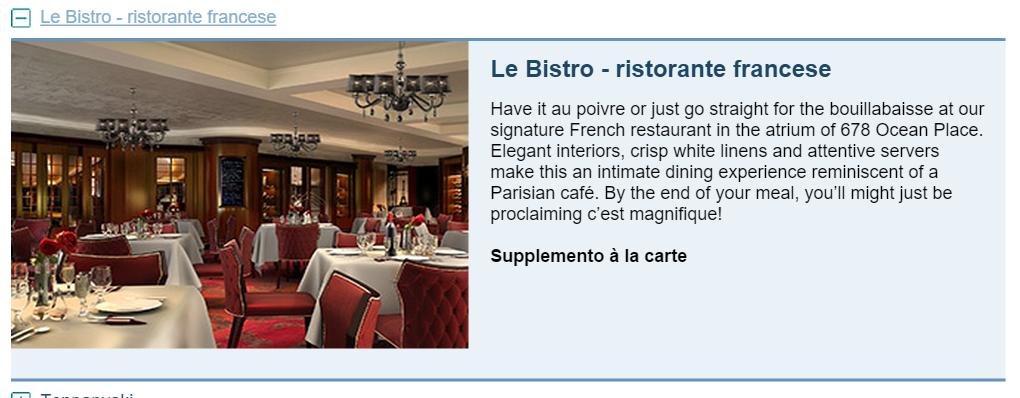 Le Bistro - ristorante francese