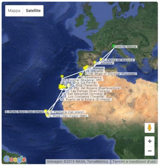 Itinerario Artania